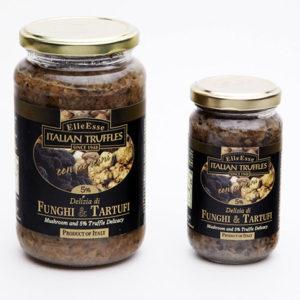 delizia di funghi e tartufi